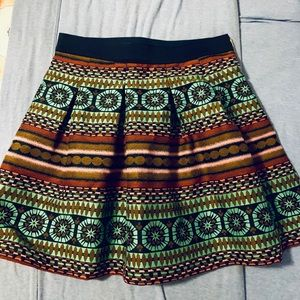 Patterned skirt from Anthropologie size 4